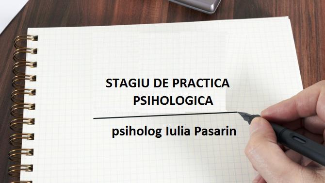 STAGIU DE PRACTICA PSIHOLOGICA – curs intensiv, online, zoom